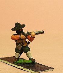 Arquebusier in Hats - Firing
