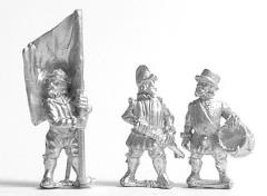 Command Pack - Foot Officer, Standard Bearer, & Drummer