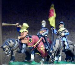 Mounted King, Standard Bearer, & Herald 1150-1300