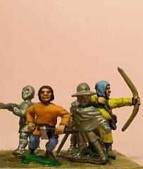 Peasants/Pilgrims w/Mixed Weapons - Assorted