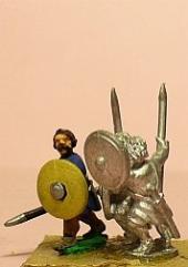 Javelinmen w/Bare Head & Round Shield - Assorted
