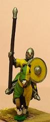 Mounted Knights 1050-1150 w/Round Shield & Barded Horse