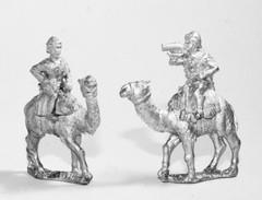 Command - 2 Camel Corps Officers & Bugler