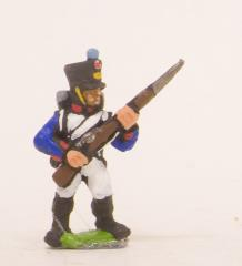 Line Fusilier - Advancing w/Musket at 45 Degrees