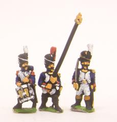 Old Guard Command Pack in Full Dress - Officers, Standard Bearers & Drummers