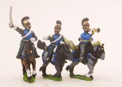 Line Lancer Cavalry Command Pack - Officer, Standard Bearer & Trumpeter