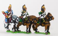 Empress Dragoon Command Pack - Officer, Standard Bearer & Trumpeter