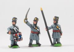 Command Pack - Officers, Standard Bearers & Drummers in Greatcoat