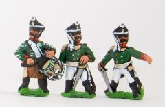Line Infantrymen Command Pack - Officers, Standard Bearers & Drummers