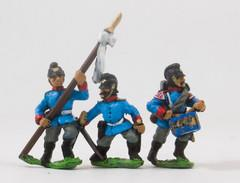 Bavarian Line Infantry or Jager Command - Officer, Standard Bearer, & Drummer