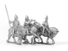 Cavalry Command - Cuirassier Officer, Standard Bearer, & Trumpeter