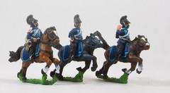 Bavarian Cavalry Command - Cheveau Leger Officer, Standard Bearer, & Trumpeter