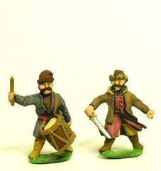 Cossacks Command - Officers, Standard Bearers, & Drummers