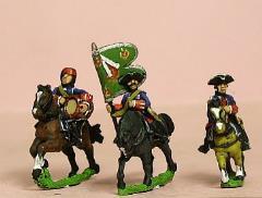 Command Pack - Dragoon Officer, Standard Bearer, & Drummer in Bonnet