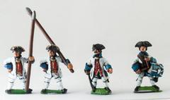 Command Pack - Fusilier Officer, Drummer, & Standard Bearer w/Bare Flagpole