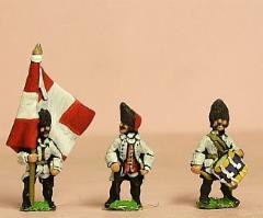 Command Pack - Grenadier Royaux Officer, Standard Bearer, & Drummer