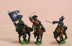 Command Pack - Hussar Officer, Standard Bearer, & Trumpeter in Mirliton
