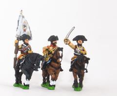 Cuirassier Officer, Standard Bearer & Trumpeter