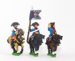 Dragoon Officer, Standard Bearer & Trumpeter