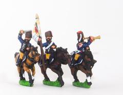 Hussar Officer, Standard Bearer & Trumpeter in Fur Cap
