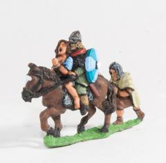 Mounted Huscarl & Female Captive w/Prisoner Following