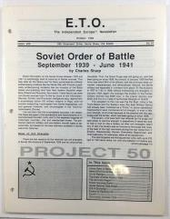 "#49 ""Soviet Order of Battle 1939-1941, Soviet National Data Sheet"""