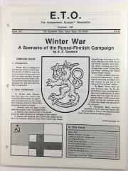 "#51 ""Winter War - A Scenario of the Russo-Finnish Campaign"""