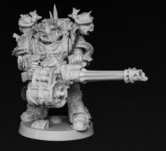 Chaos Autocannon Gunner #1