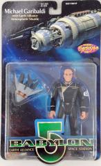 "Michael Garibaldi w/Earth Alliance Atmospheric Shuttle - 6"" Action Figure"