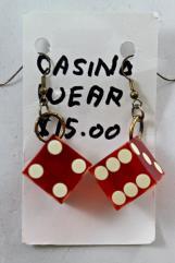 18mm Casino Dice Earrings
