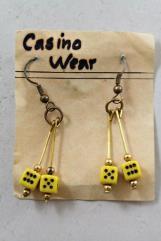 4mm Dice Earrings - Yellow