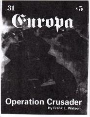 "#31 ""Operation Crusader Scenario, A Winter War Designer Notes"""