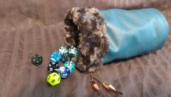 Blue w/Brown Fur Dice Bag