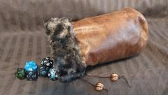 Brown w/Brown Fur Dice Bag