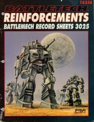 Reinforcements - Record Sheets 3025