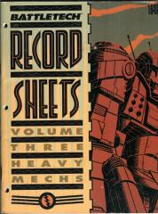 Record Sheets #3 - Heavy Mechs