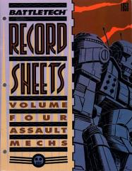 Record Sheets #4 - Assault Mechs