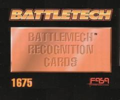 Battlemech Recognition Cards