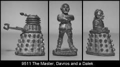 The Master, Davros and a Dalek