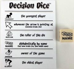 Decision Dice (d6)