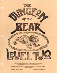 Dungeon of the Bear #2