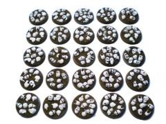 Chaos Skulls - 25mm Round Bases, Complete Set