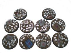 Chaos Skulls - 40mm Round Bases, Complete Set