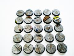 25mm Round Bases - Complete Set