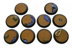 Docks of Despair - 30mm Rolled Lip Round Bases, Complete Set