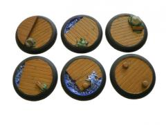 Docks of Despair - 40mm Rolled Lip Round Bases, Complete Set