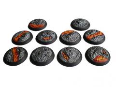 30mm Rolled Lip Round Bases - Complete Set