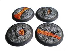 50mm Rolled Lip Round Bases - Random