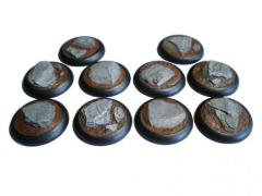 30mm Rolled Lip Round Bases - Random