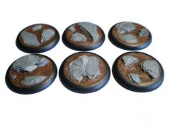 40mm Rolled Lip Round Bases - Random